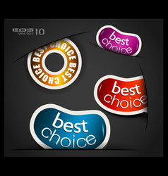 Best Choice Stickers vector image vector image
