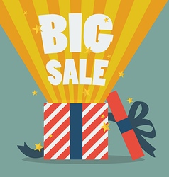 Big sale with a christmas gift box vector