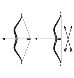 bow and arrow vector image vector image