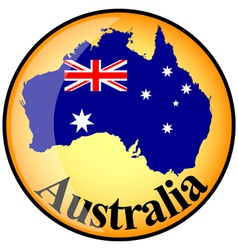 button Australia vector image
