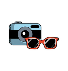 Camera and glasses vector