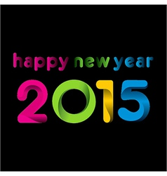 colorful happy new year 2015design vector image vector image