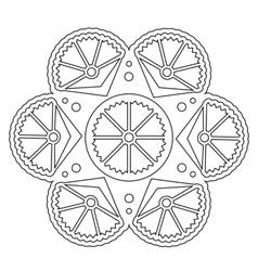 Coloring simple floral mandala vector