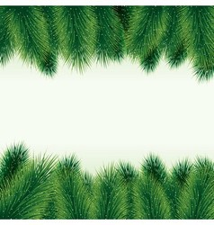 Decorative christmas tree background vector image vector image