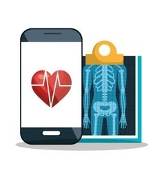 Diagnosis medical digital healthcare vector