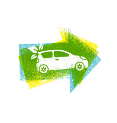 Eco car drive green natural friendly vector