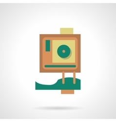 Flat color design action camera icon vector