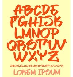 Graffiti font - hand written - alphabet vector