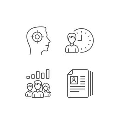 Head hunting networking and teamwork icons vector