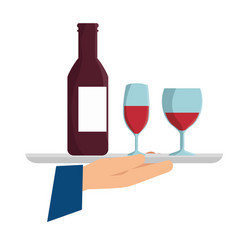 Offering wine icon vector