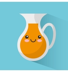 Orange juice jar character vector
