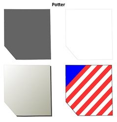 Potter map icon set vector