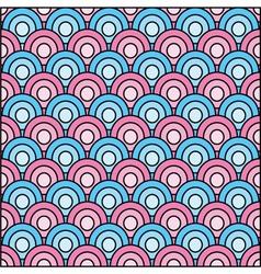 retro circles seamless pattern vector image