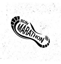 Run icon running symbol marathon poster and logo vector