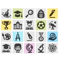 school logo design template education or vector image