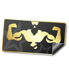 Sticker for gym vector image vector image