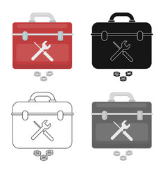 Toolbox icon in cartoon style isolated on white vector