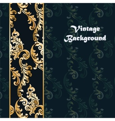Vintage background with classic floral ornaments vector
