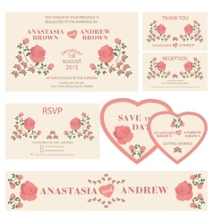 Wedding invitationWedding collection vector image vector image