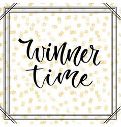 Winner time giveaway banner for social media vector