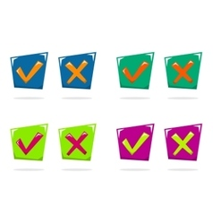 Yes No vector image vector image