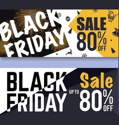 Black friday sale banner background vector