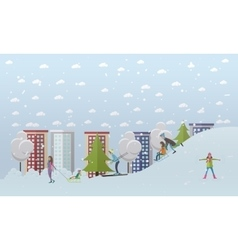 Winter activities concept vector