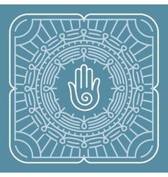 Mandala in outline style vector