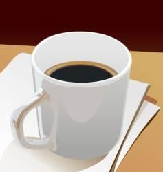 cup black coffee vector image