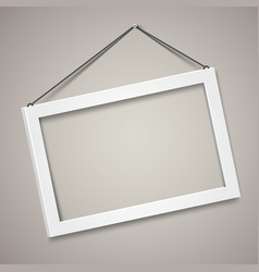3d picture frame design for a4 image or vector image vector image