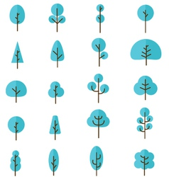 Tree collection 4 vector