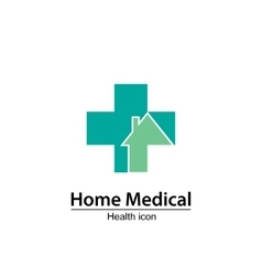 Home medical symbol health icon nursing home vector