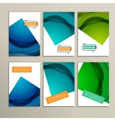 Set abstract bright colors green and blue vector