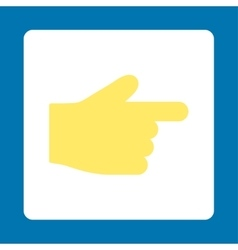 Index finger flat yellow and white colors rounded vector