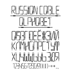 Cyrillic alphabet from the audio cables vector
