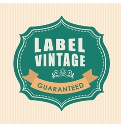 Vintage and retro label design vector