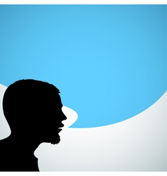 Abstract speaker silhouette vector