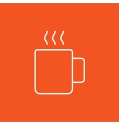 Mug of hot drink line icon vector