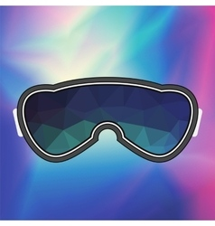 Ski goggle colorful glasses vector