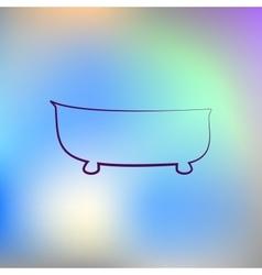 bath icon bath vector image vector image