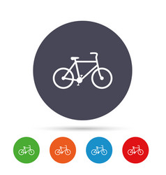 bicycle sign icon eco delivery vector image