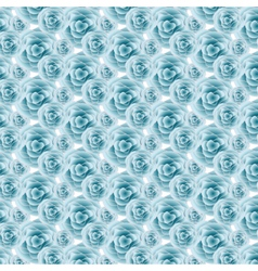 Blue rose pattern background vector