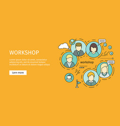 business workshop banner vector image