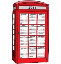 calendar of 2011 vector image vector image