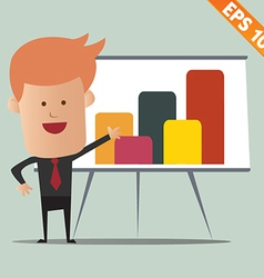Cartoon business man present information - - vector image vector image