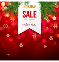 Chrismas sale banner on bokeh background vector