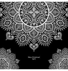 Christmas snowflake mandala ornament vector image vector image