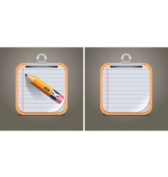 clipboard square icon vector image vector image