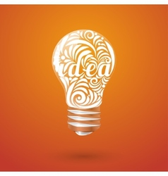 Concept vortex ideas in the form of light bulb vector