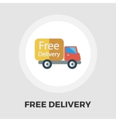 Delivery car flat icon vector